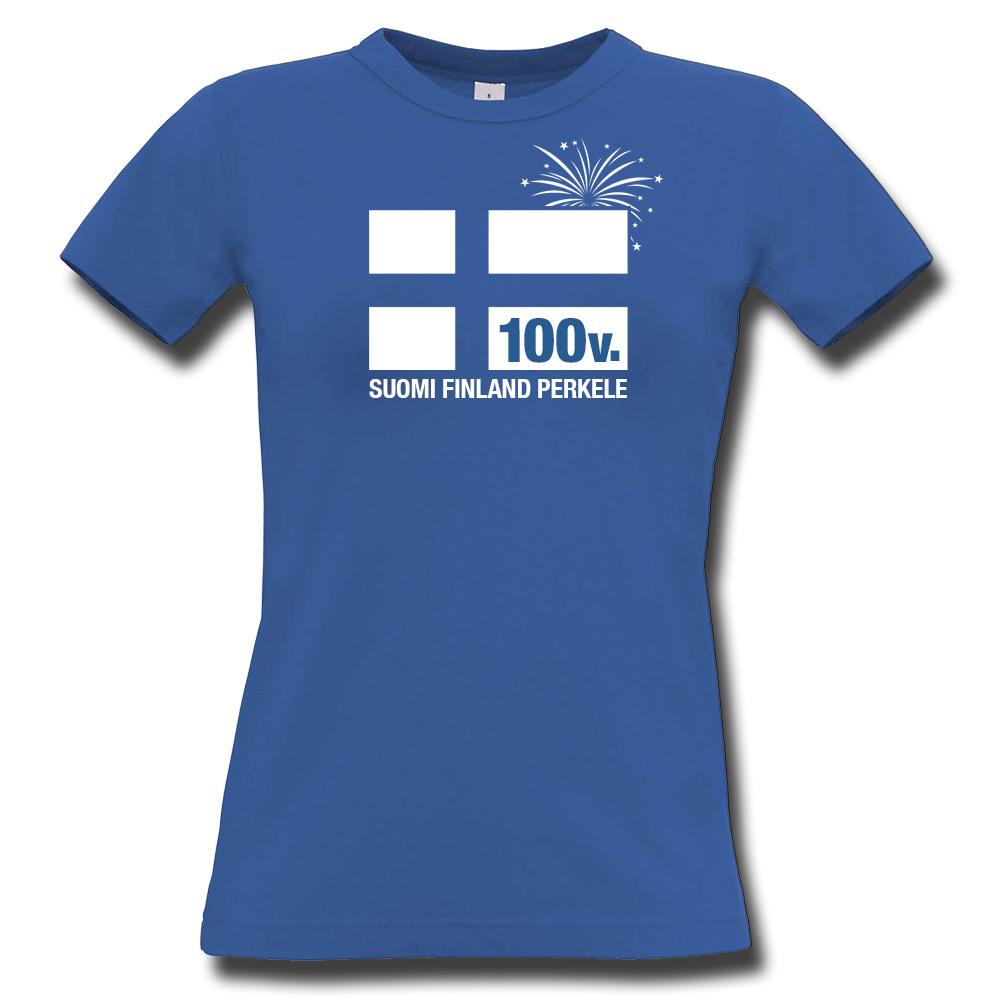 Suomi Finland Perkele 100-v. T-Paita ae459a7a21